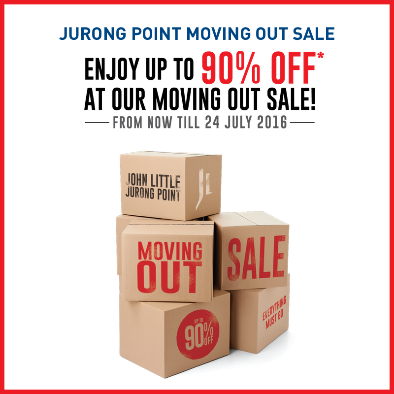 John Little SG Jurong Point Moving Out Sale ends 24 Jul 2016