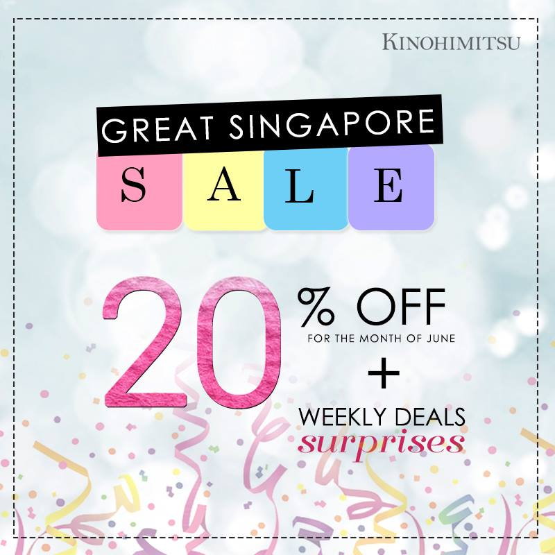 Kinohimitsu SG GSS 20% Off ends 30 Jun 2016
