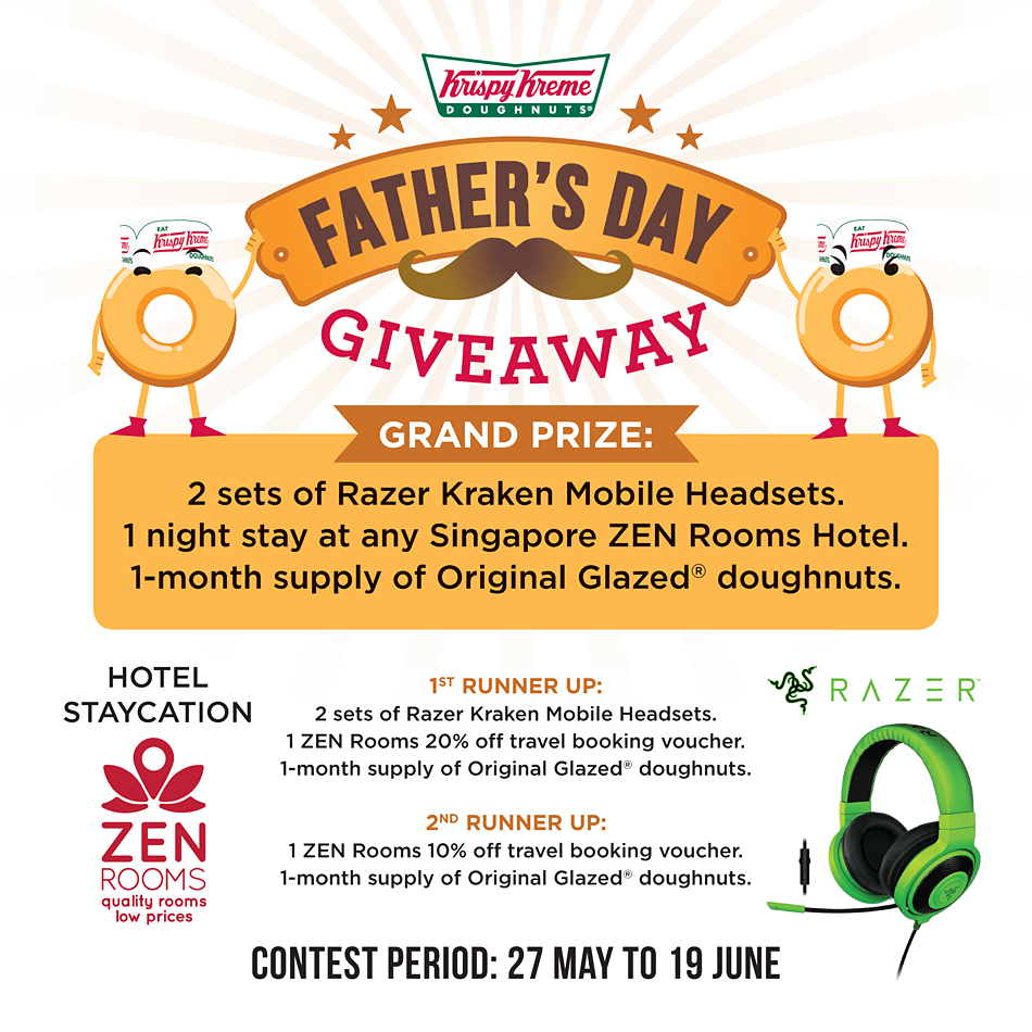 Krispy Kreme SG Father's Day Giveaway 27 May to 19 Jun 2016