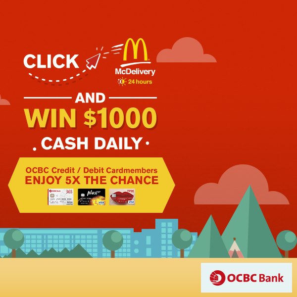 McDonald's Win $1,000 Daily with McDelivery 6 Jun to 21 Jul 2016