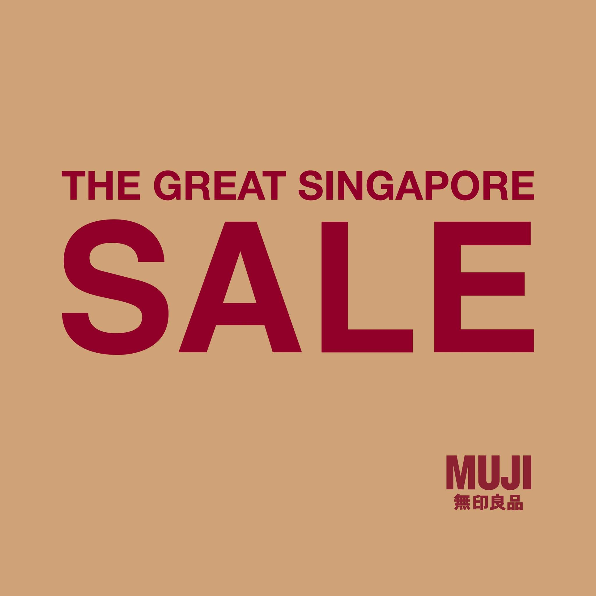 MUJI SG Great Singapore Sale Up to 50% Off