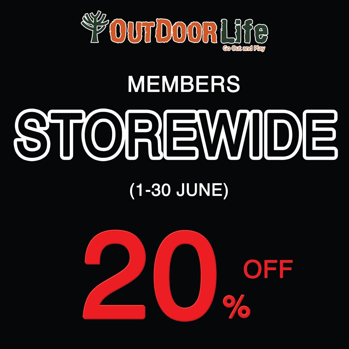 Outdoor Life SG GSS Up to 20% Off 1 to 30 Jun 2016