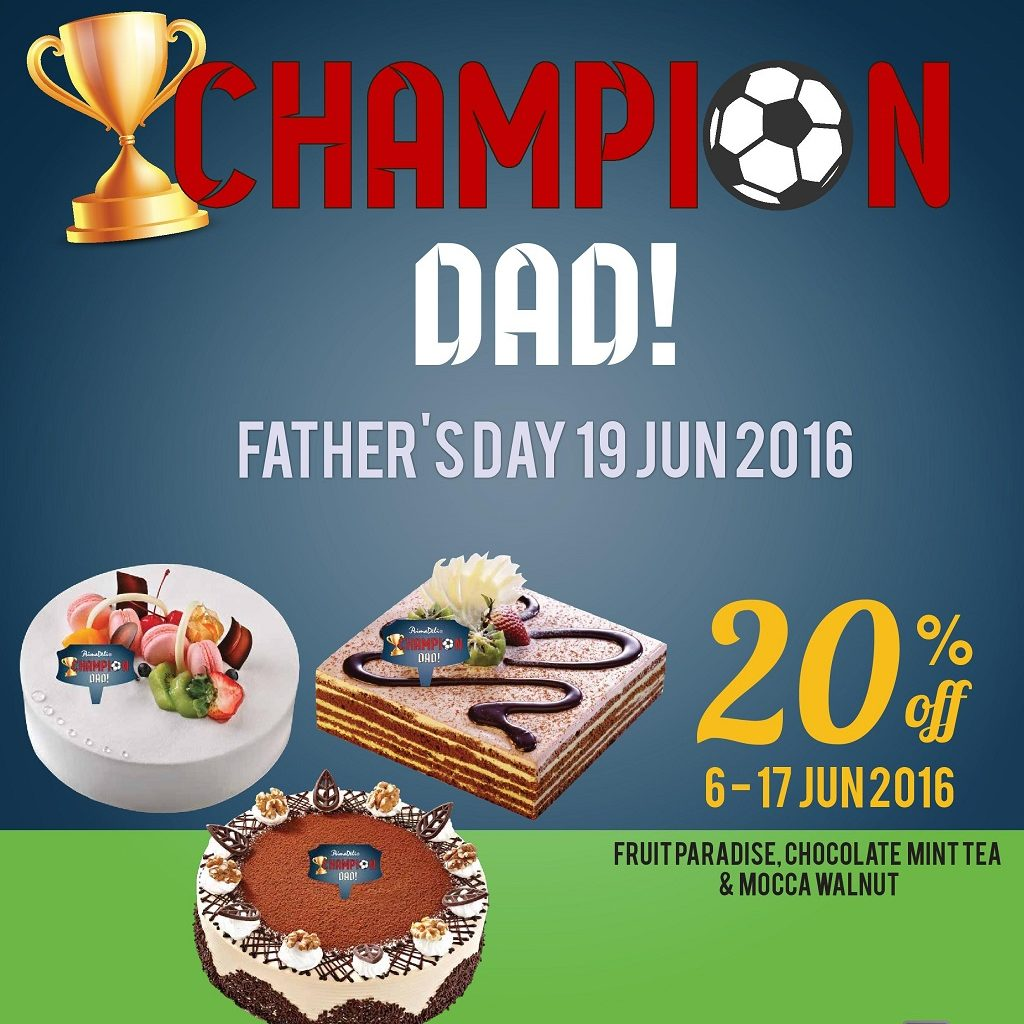 PrimaDeli SG 20% Off Father's Day Cakes ends 19 Jun 2016