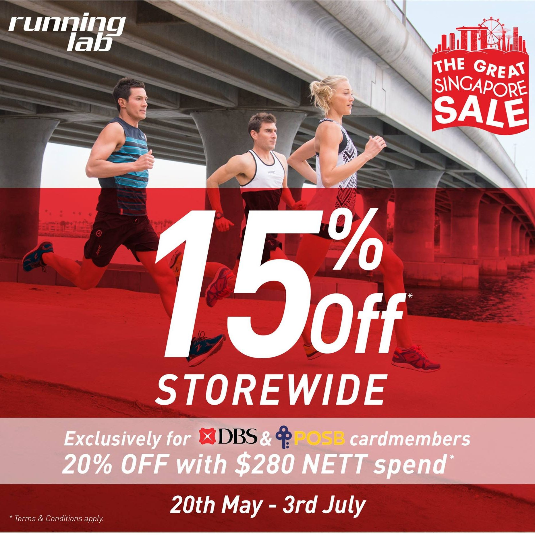 Running Lab SG GSS Up to 15% Off Storewide 20 May to 3 Jul 2016