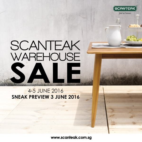 Scanteak SG GSS Warehouse Sale 4 to 5 Jun 2016