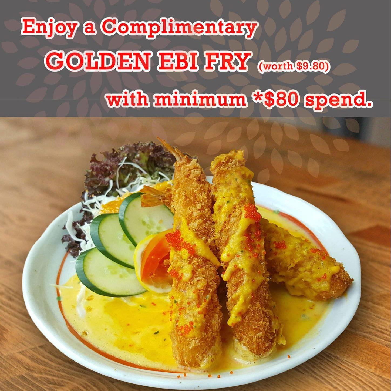 Sushi Tei SG FREE Golden Ebi Fry with $80 Spent 20 Jun to 21 Aug 2016