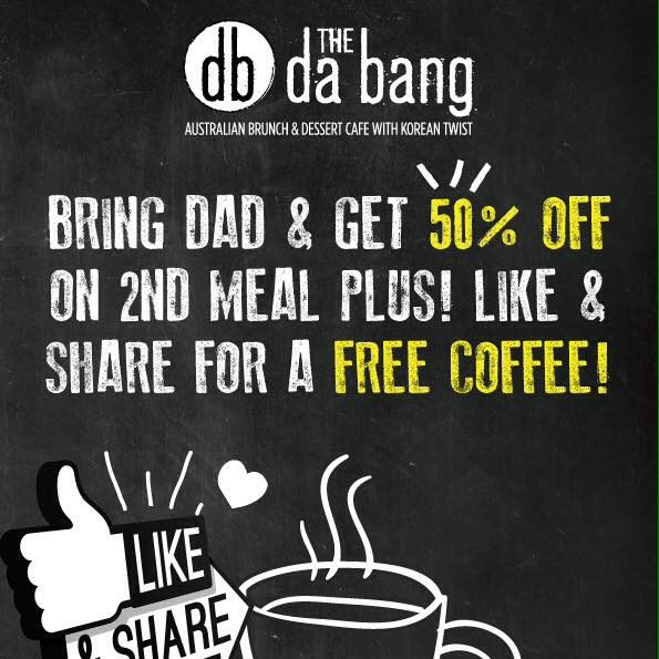 The Da Bang Father's Day Special ends 19 Jul 2016