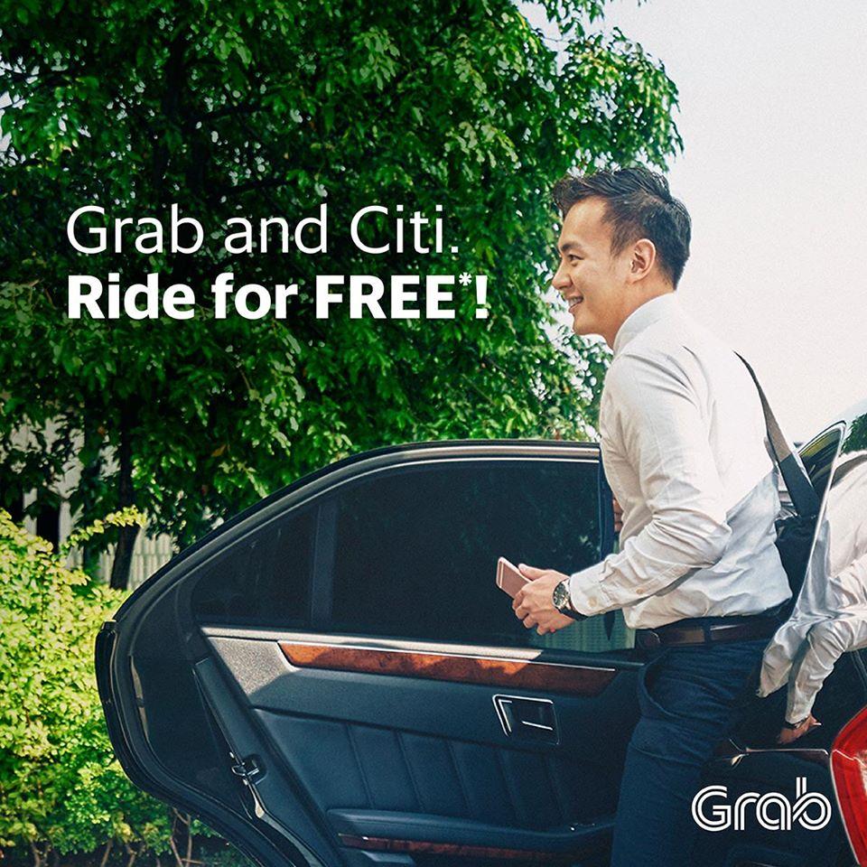 Grab Citi Credit Card FREE Ride Singapore Promotion 4 to 10 Jul 2016