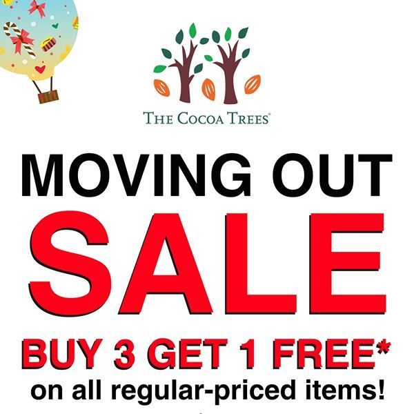 The Cocoa Trees VivoCity Moving Out Sale Singapore Promotion ends 21 Aug 2016