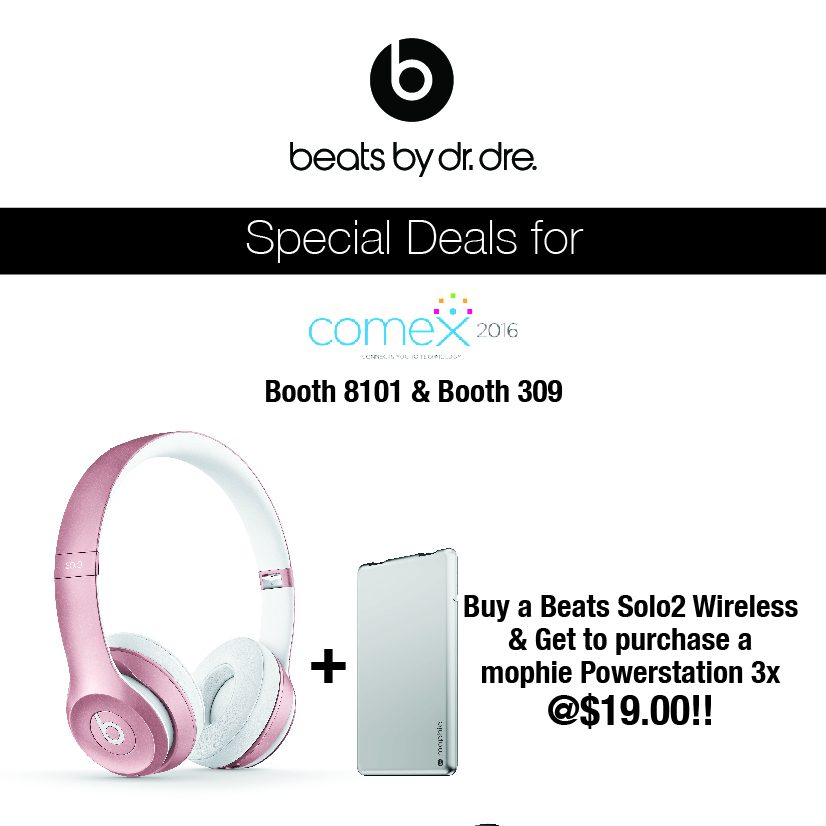 Beats by Dre Singapore COMEX Show Beats & Mophie Promotion 8 to 11 Sep 2016