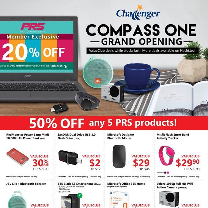 Challenger Singapore Compass One Grand Opening Promotion 1 to 4 Sep 2016