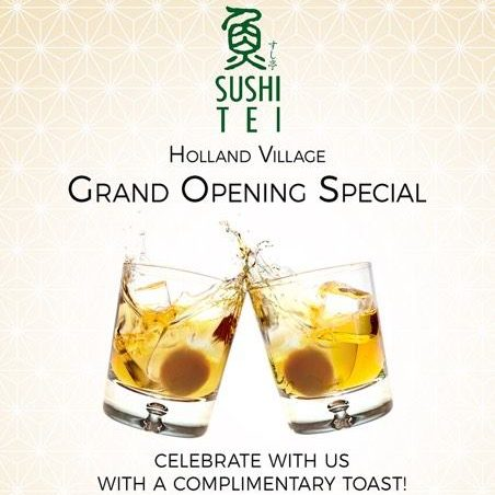 Sushi Tei Singapore Holland Village Grand Opening Special Promotion