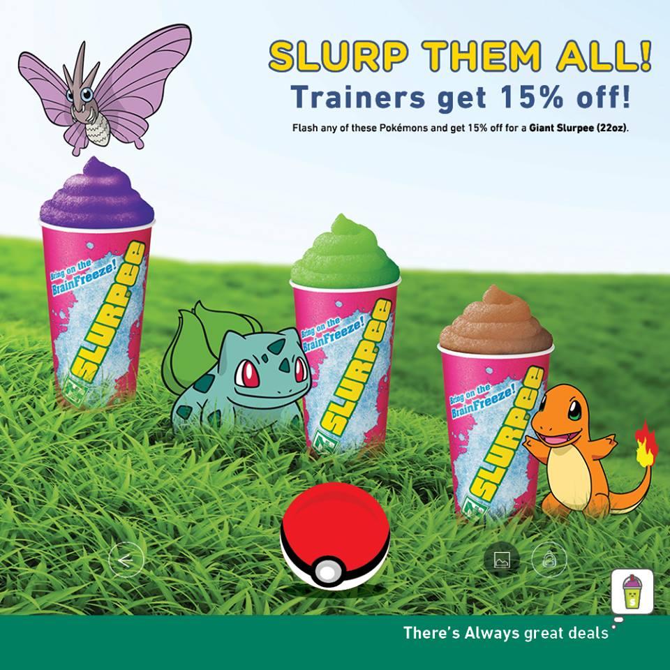 7-Eleven Singapore Pokemon GO Trainers Get 15% Off Giant Slurpee Promotion ends 1 Nov 2016