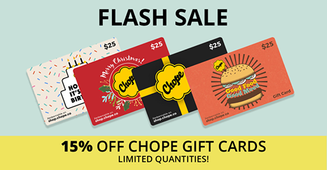 Chope Singapore Grab 15% Off Chope Gift Cards Promotion ends 14 Oct 2016