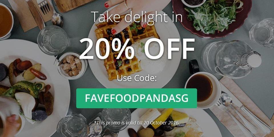foodpanda Singapore Plan Outings with Fave 20% Off Promotion ends 20 Oct 2016