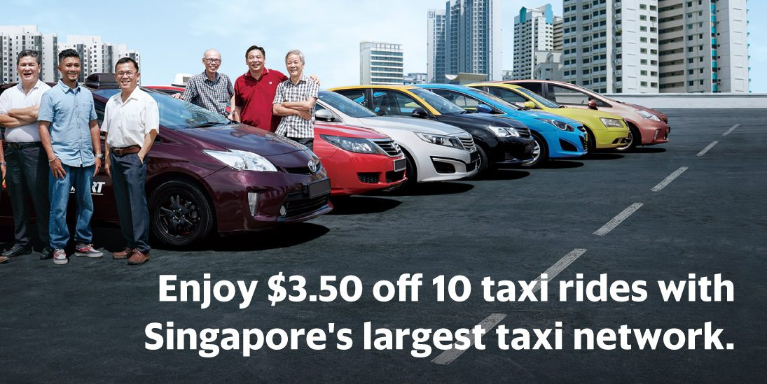 GrabTaxi Singapore Enjoy $3.50 Off 10 Taxi Rides Promotion ends 31 Jan 2017