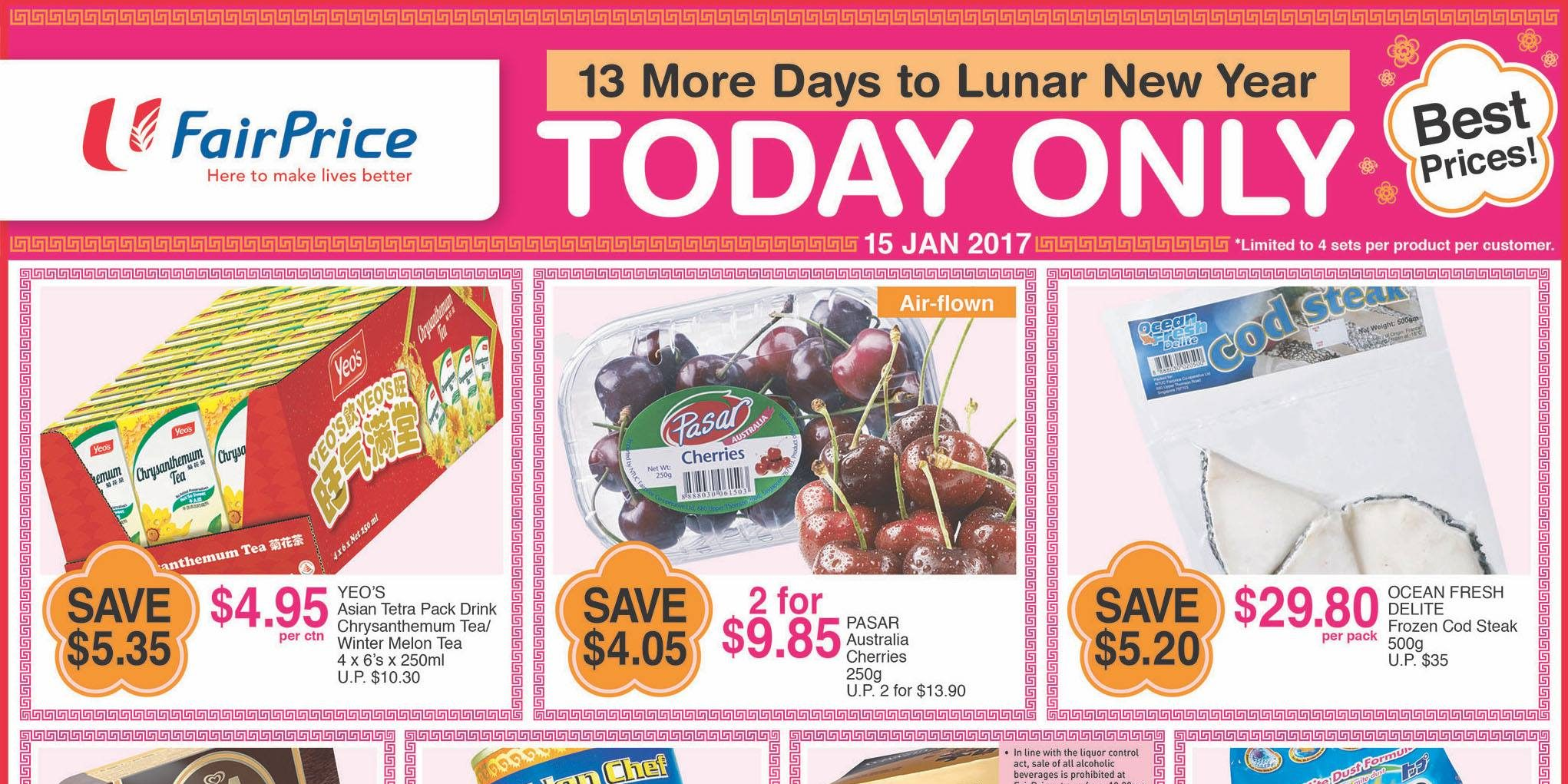 NTUC FairPrice Singapore 13 More Days to Lunar New Year Promotion 15 Jan 2017