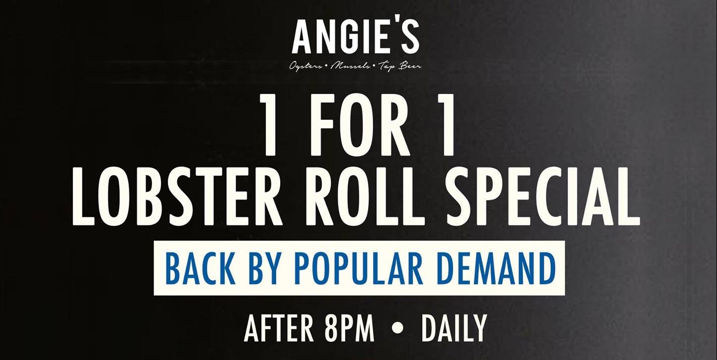 Angie's Oyster Bar Singapore 1-For-1 Lobster Roll Special After 8pm Daily
