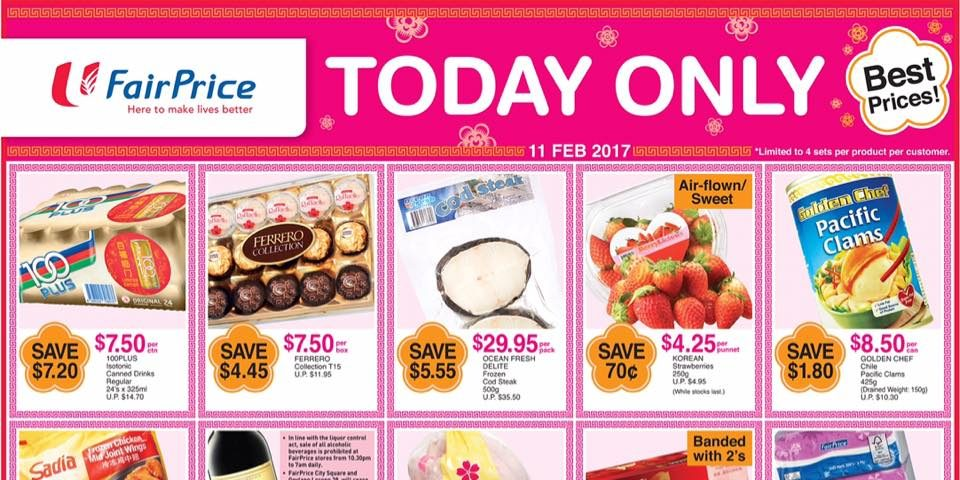 NTUC FairPrice Singapore CNY 15th Day Special Deals Promotion 11 Feb 2017