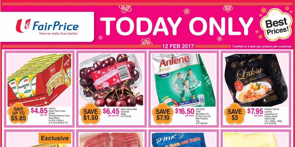 NTUC FairPrice Singapore One-Day Best Prices Promotion 12 Feb 2017