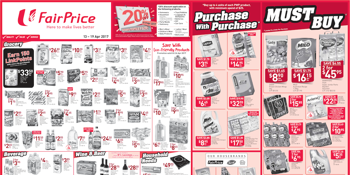NTUC FairPrice Singapore Weekly Store Ads Promotion 13-19 Apr 2017
