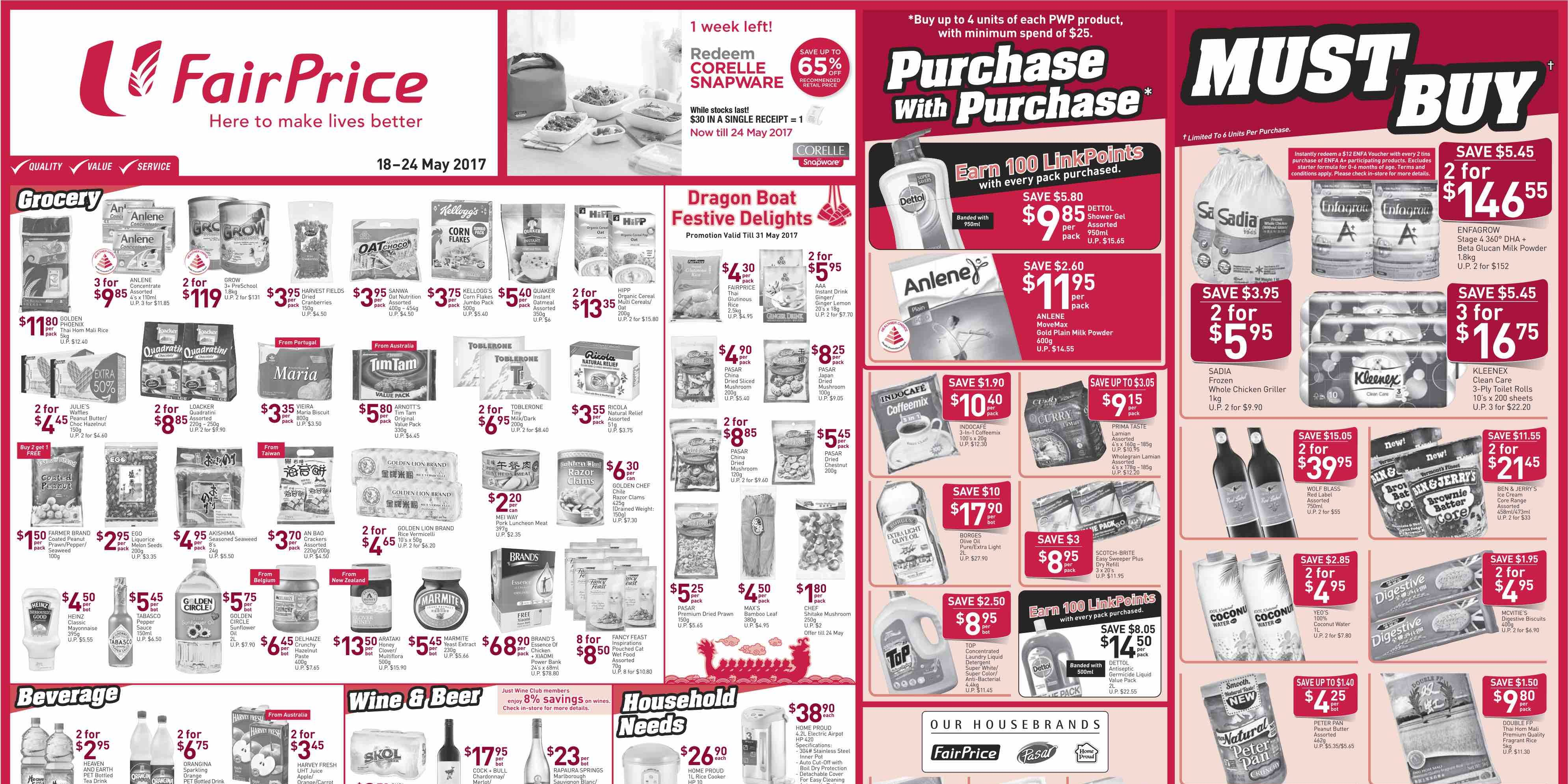 NTUC FairPrice Singapore Your Weekly Saver Promotion 18-24 ...