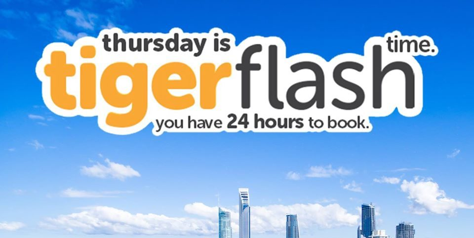 Tigerair Singapore 24 Hours Flash Sale Thurs-Fri Promotion 4-5 May 2017