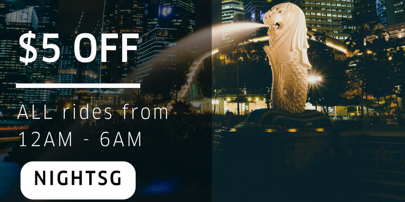 Uber NIGHTSG Promo Code Extended $5 Off All uberX & uberPOOL ends 31 May 2017
