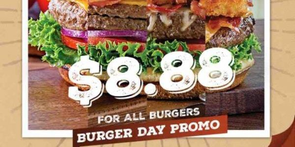 Chili's Singapore 7th Annual Burger Day $8.88 For All Burgers Promotion 28 Jun 2017