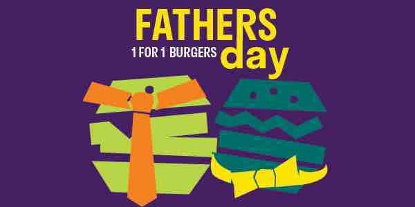 Deliveroo Singapore Father's Day 1-For-1 Burgers Promotion 12-18 Jun 2017