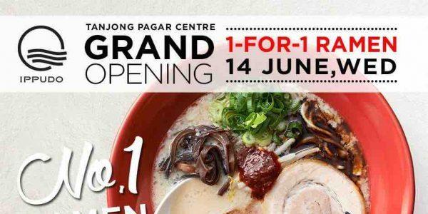 IPPUDO SG Tanjong Pagar Centre Grand Opening 1-For-1 Ramen Promotion 14 Jun 2017