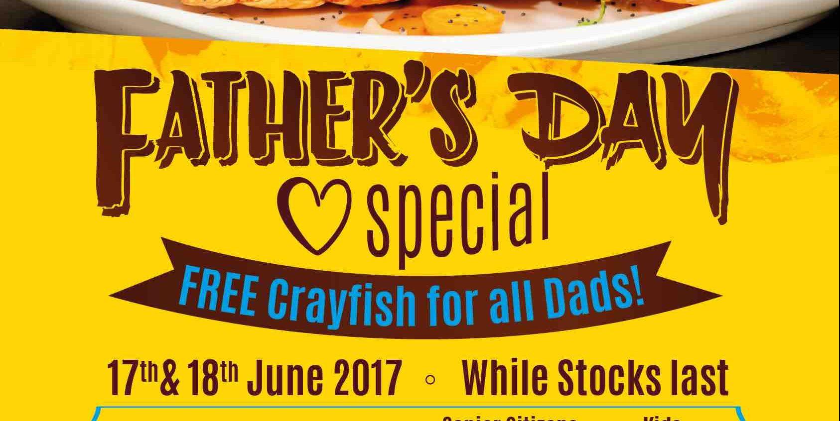 Sakura International Buffet SG FREE Crayfish Father's Day Promotion 17-18 Jun 2017