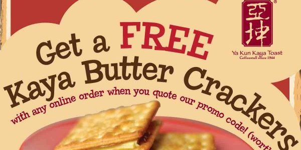Ya Kun Singapore Order Online & Get FREE Kaya Butter Crackers CRACKMEUP Promo Code ends 31 Jul 2017