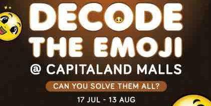 CapitaLand Malls Singapore Celebrates World Emoji Day with Various Challenges 17 Jul – 13 Aug 2017