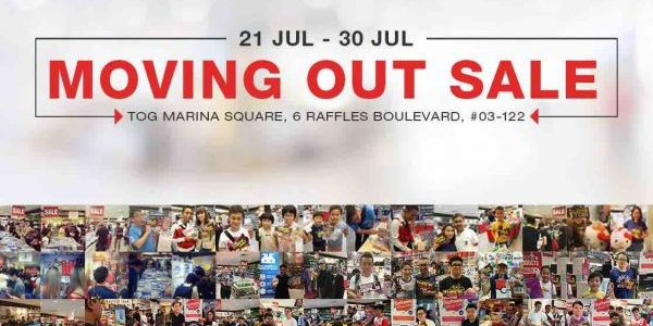 TOG Singapore Marina Square Moving Out Sale Up to 50% Off Promotion 21-30 Jul 2017