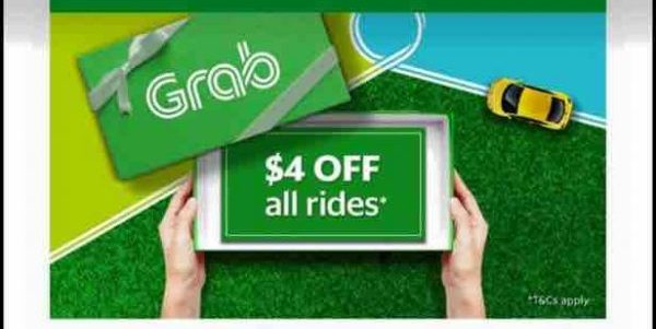 Grab Singapore $4 Off all Rides SAVE4 Promo Code 25 Sep – 1 Oct 2017