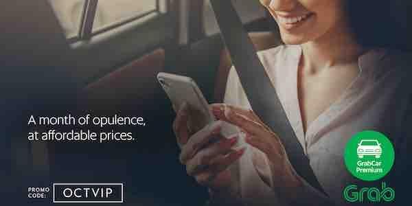 Grab Singapore $4 Off Grab Car Premium Rides OCTVIP Promo Code 1-31 Oct 2017