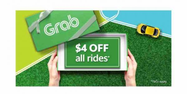 Grab Singapore $4 Off Up to 4 Rides 4OFF Promo Code 24-28 Sep 2017