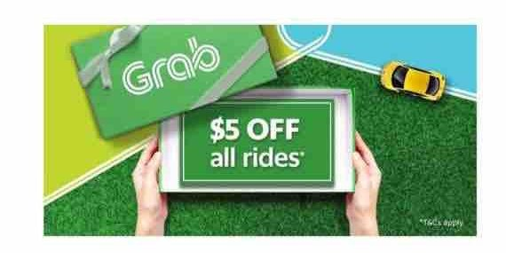 Grab Singapore $5 Off Grab Rides 5OFF Promo Code 24-28 Sep 2017