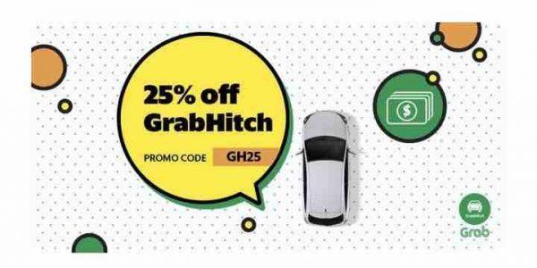Grab Singapore 25% Off GrabHitch Rides GH25 Promo Code 25-31 Oct 2017