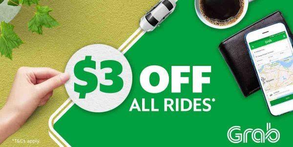 Grab Singapore $3 Off Grab Rides TAKE3 Promo Code 30 Oct – 5 Nov 2017