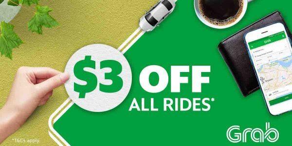 Grab Singapore $3 Off Grab Rides TAKE3 Promo Code 9-15 Oct 2017