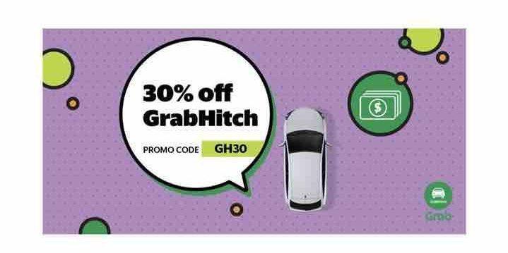 Grab Singapore 30% Off GrabHitch Rides GH30 Promo Code 1-7 Nov 2017