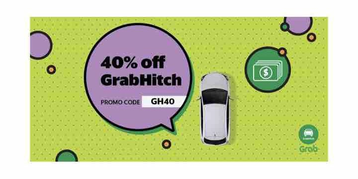 Enjoy 40% Off GrabHitch Rides with GH40 Promo Code 8-14 Nov 2017