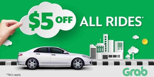 Enjoy $5 Off Grab Rides 8am to 11:59pm with TAKE5 Promo Code 6-12 Nov 2017