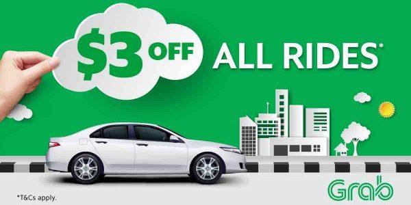 Grab Singapore $3 Off Grab Rides with TAKE3 Promo Code 13-19 Nov 2017