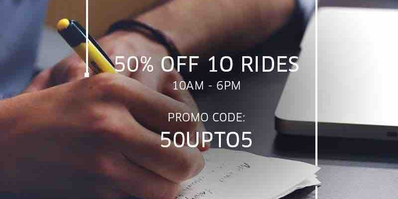 Uber Singapore 50% Off Up to $5 on 10 uberX or uberPOOL Rides ends 5 Jan 2018