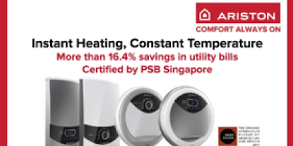 Ariston Singapore get free gifts for any instant water heaters purchased 25 May – 1 Jul 2018