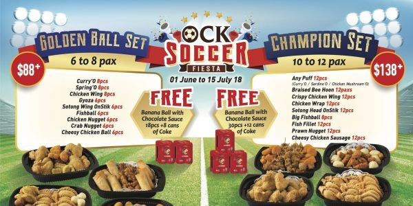 Old Chang Kee Singapore Soccer Fiesta Delicious Hot Snack from 1 Jun – 15 Jul 2018