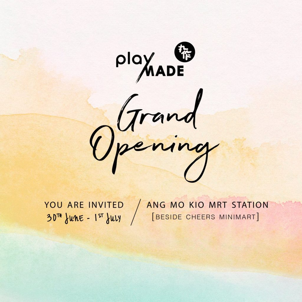 Playmade Singapore Ang Mo Kio Outlet Grand Opening 1-for-1 Promotion 30 Jun - 1 Jul 2018 | Why Not Deals